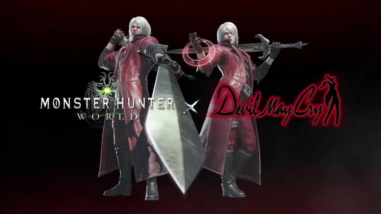 『MHWモンハンワールド』デビルメイクライとのコラボ、武器と防具が登場